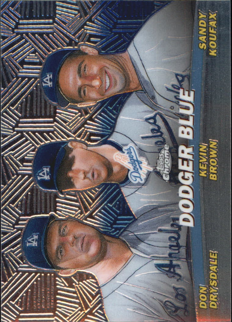2001 Topps Chrome Combos #TC11 Dodger Blue