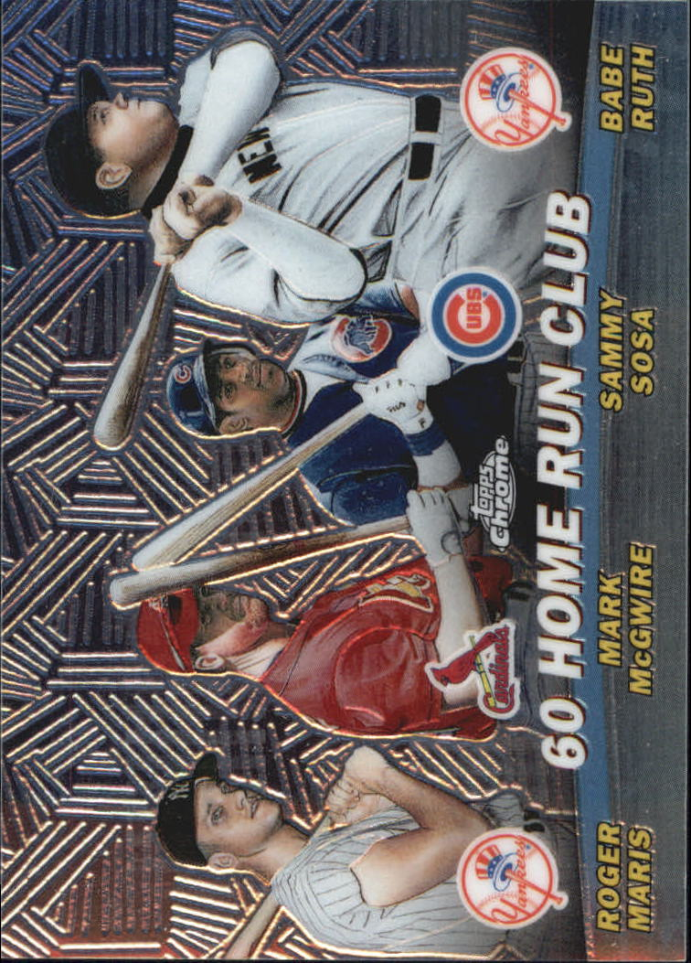 2001 Topps Chrome Combos #TC12 60 Home Run Club front image