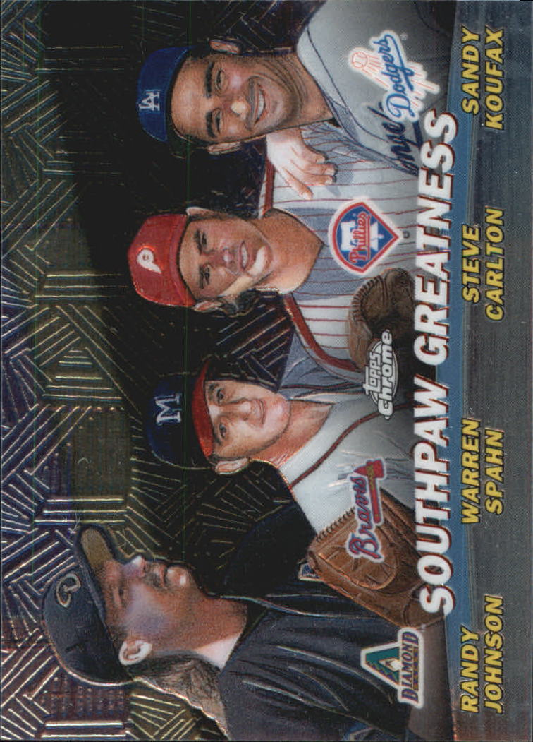 2001 Topps Chrome Combos #TC17 Southpaw Greatness