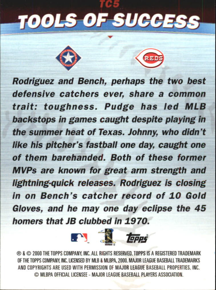 2001 Topps Combos #TC5 Tools of Success back image