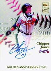 2001 Topps Golden Anniversary Autographs #GAACJ Chipper Jones B1