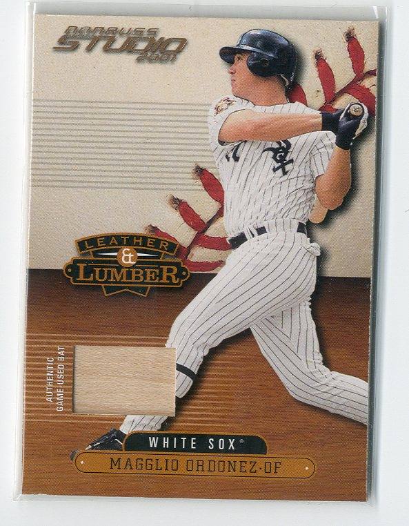 2001 Studio Leather and Lumber #LL50 Magglio Ordonez