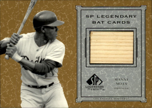 2001 SP Legendary Cuts Game Bat #BMM Manny Mota