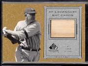 2001 SP Legendary Cuts Game Bat #BTC Ty Cobb SP