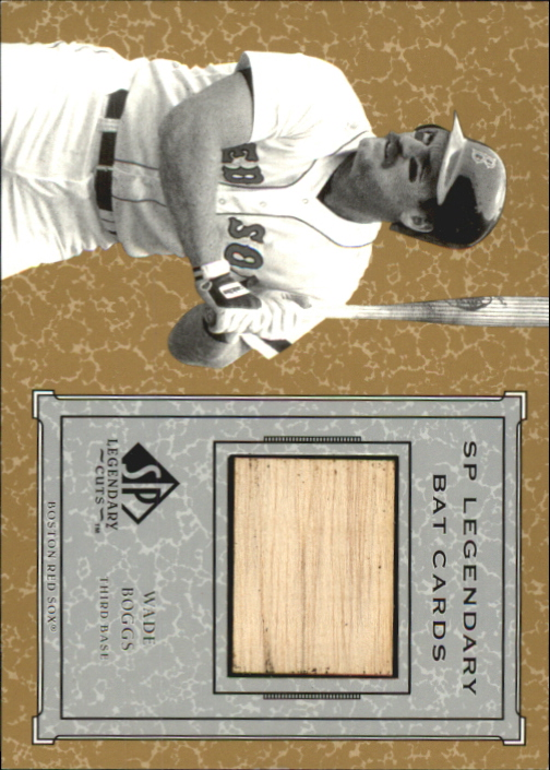 2001 SP Legendary Cuts Game Bat #BWB Wade Boggs *