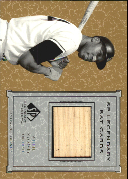 2001 SP Legendary Cuts Game Bat #BWMC Willie McCovey *