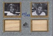 2001 SP Legendary Cuts Game Bat Combo #JRRC Jackie Robinson/Roy Campanella