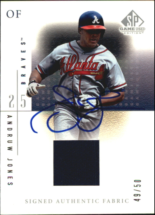 2001 SP Game Used Edition Authentic Fabric Autographs #SAJ Andruw Jones