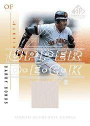 2001 SP Game Used Edition Authentic Fabric Autographs #SBB Barry Bonds