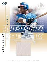 2001 SP Game Used Edition Authentic Fabric Autographs #SSS Sammy Sosa