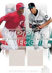 2001 SP Game Used Edition Authentic Fabric Duos #GR Ken Griffey Jr./Alex Rodriguez
