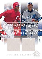 2001 SP Game Used Edition Authentic Fabric Duos #GS Ken Griffey Jr./Sammy Sosa