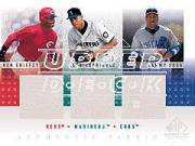 2001 SP Game Used Edition Authentic Fabric Trios #GRS Griffey/A.Rod/Sosa