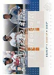 2001 SP Game Used Edition Authentic Fabric Trios #JBS A.Jones/Bonds/Sosa