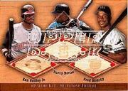 2001 SP Game Bat Milestone Piece of Action Trios #GBM Griffey/Bonds/McGriff