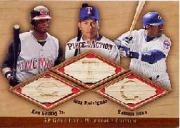 2001 SP Game Bat Milestone Piece of Action Trios #GRS Ken Griffey Jr./Alex Rodriguez/Sammy Sosa