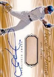 2001 SP Game Bat Edition Piece of the Game Autograph #SSS Sammy Sosa