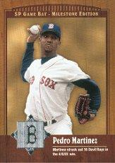 2001 SP Game Bat Milestone #25 Pedro Martinez front image