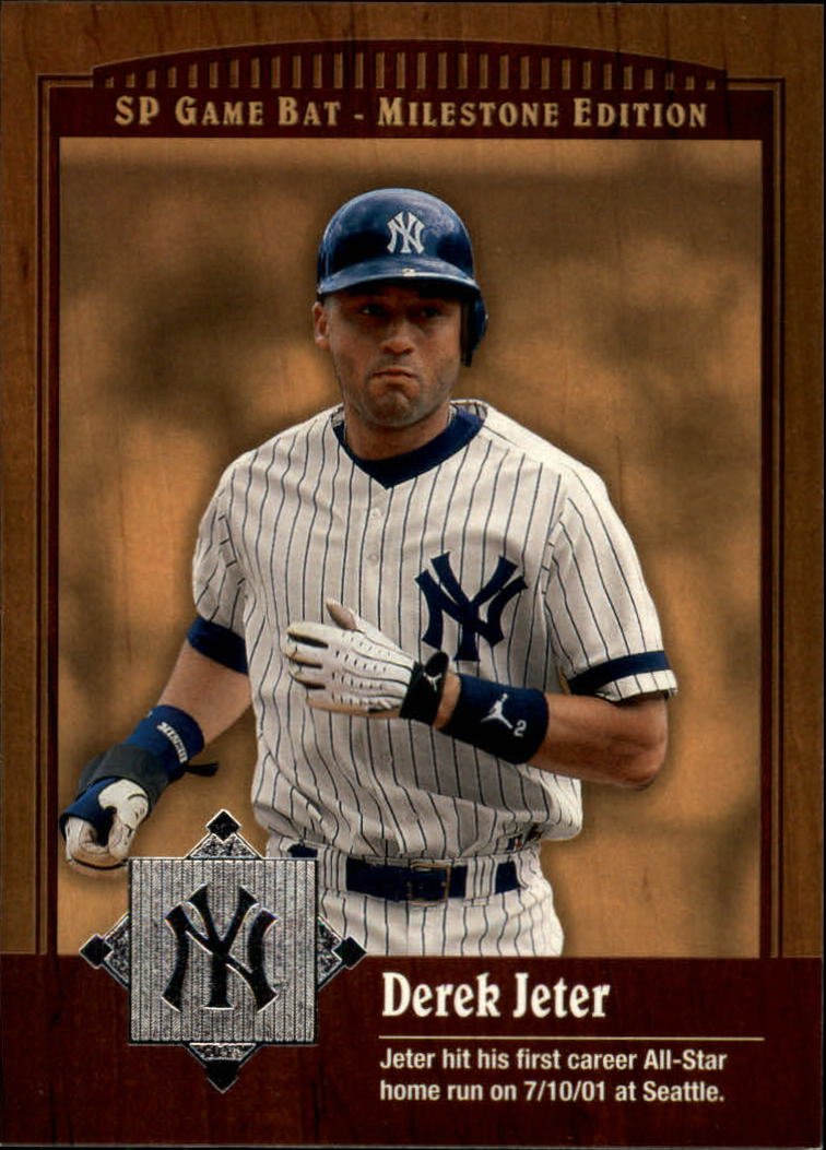 2001 SP Game Bat Milestone #42 Derek Jeter