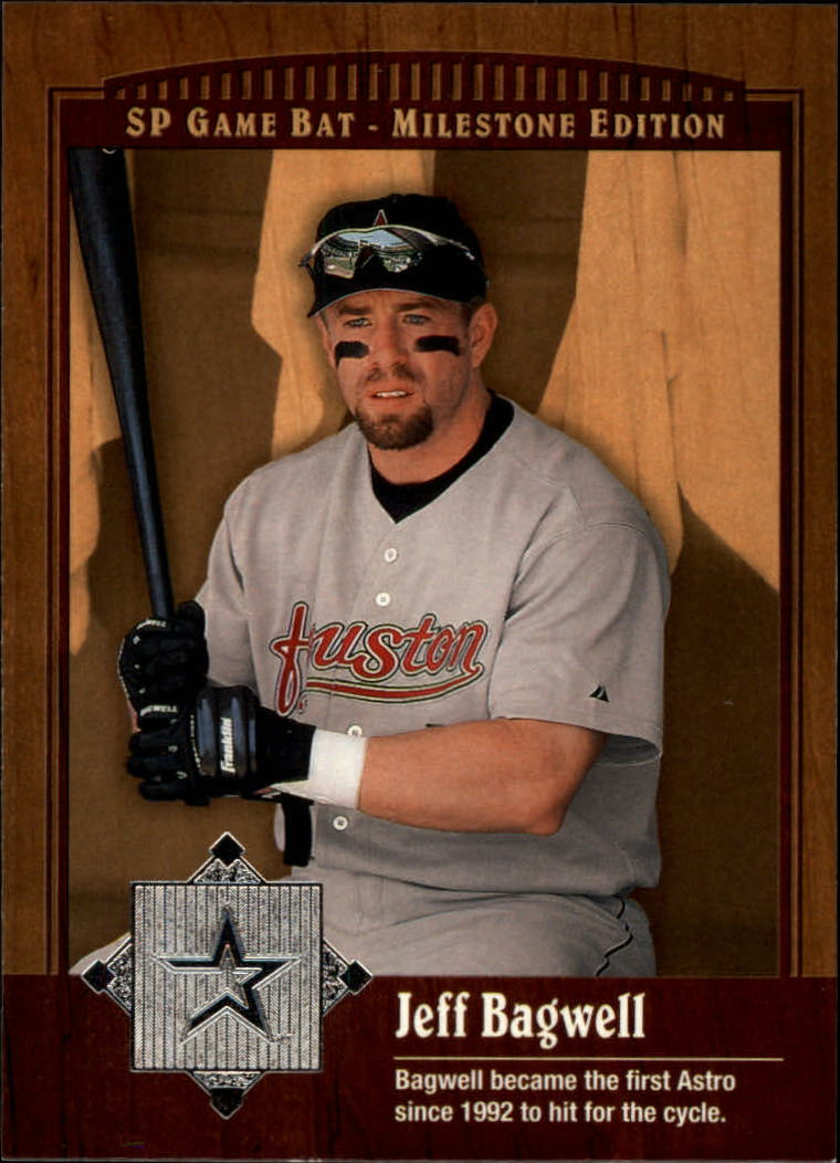 2001 SP Game Bat Milestone #44 Jeff Bagwell front image