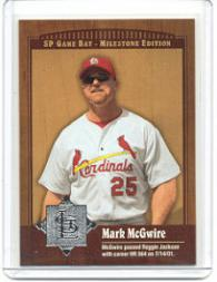 2001 SP Game Bat Milestone #55 Mark McGwire front image