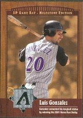 2001 SP Game Bat Milestone #60 Luis Gonzalez