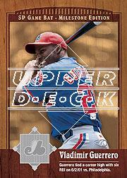 2001 SP Game Bat Milestone #65 Vladimir Guerrero