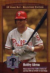 2001 SP Game Bat Milestone #81 Bobby Abreu
