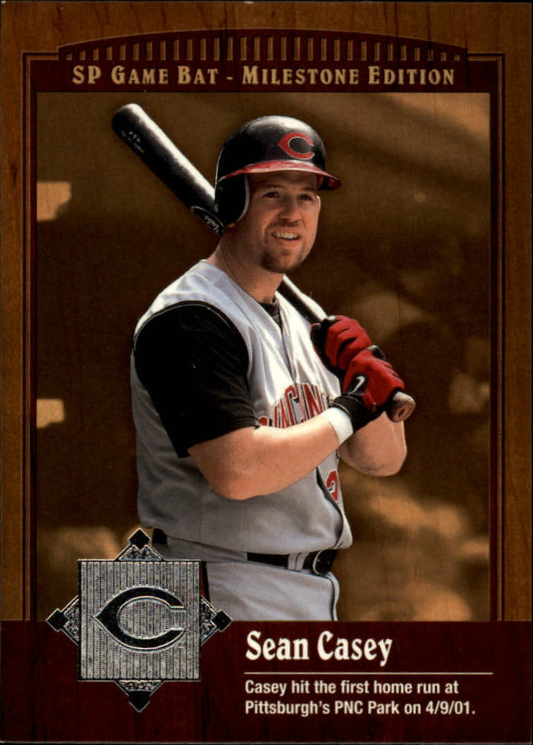 2001 SP Game Bat Milestone #85 Sean Casey