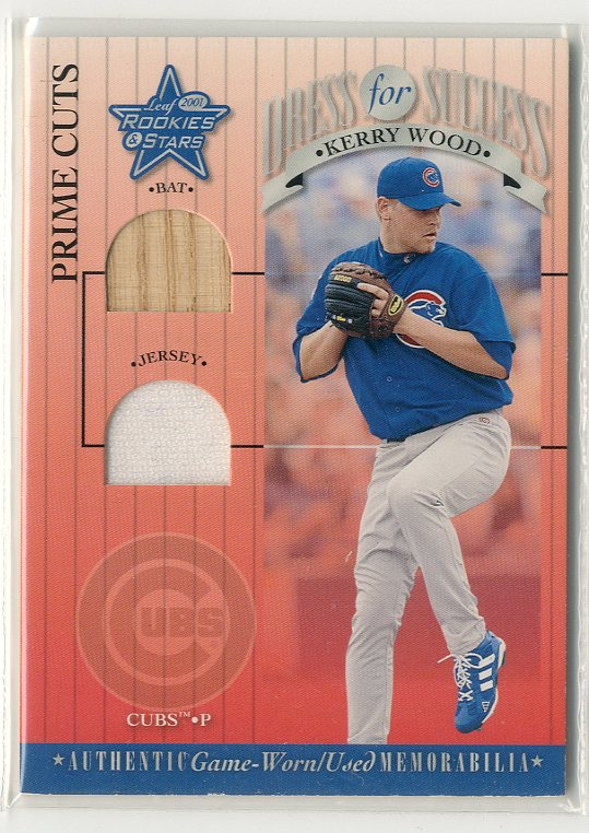 2001 Leaf Rookies and Stars Dress for Success Prime Cuts #DFS17 Kerry Wood