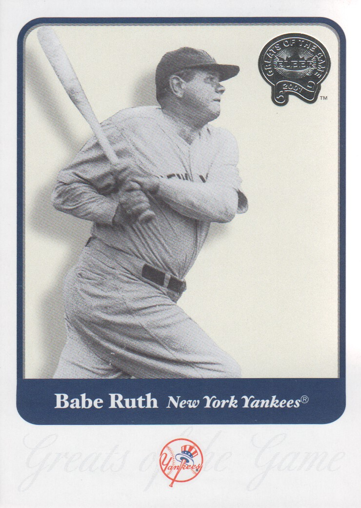 2001 Greats of the Game #3 Babe Ruth front image