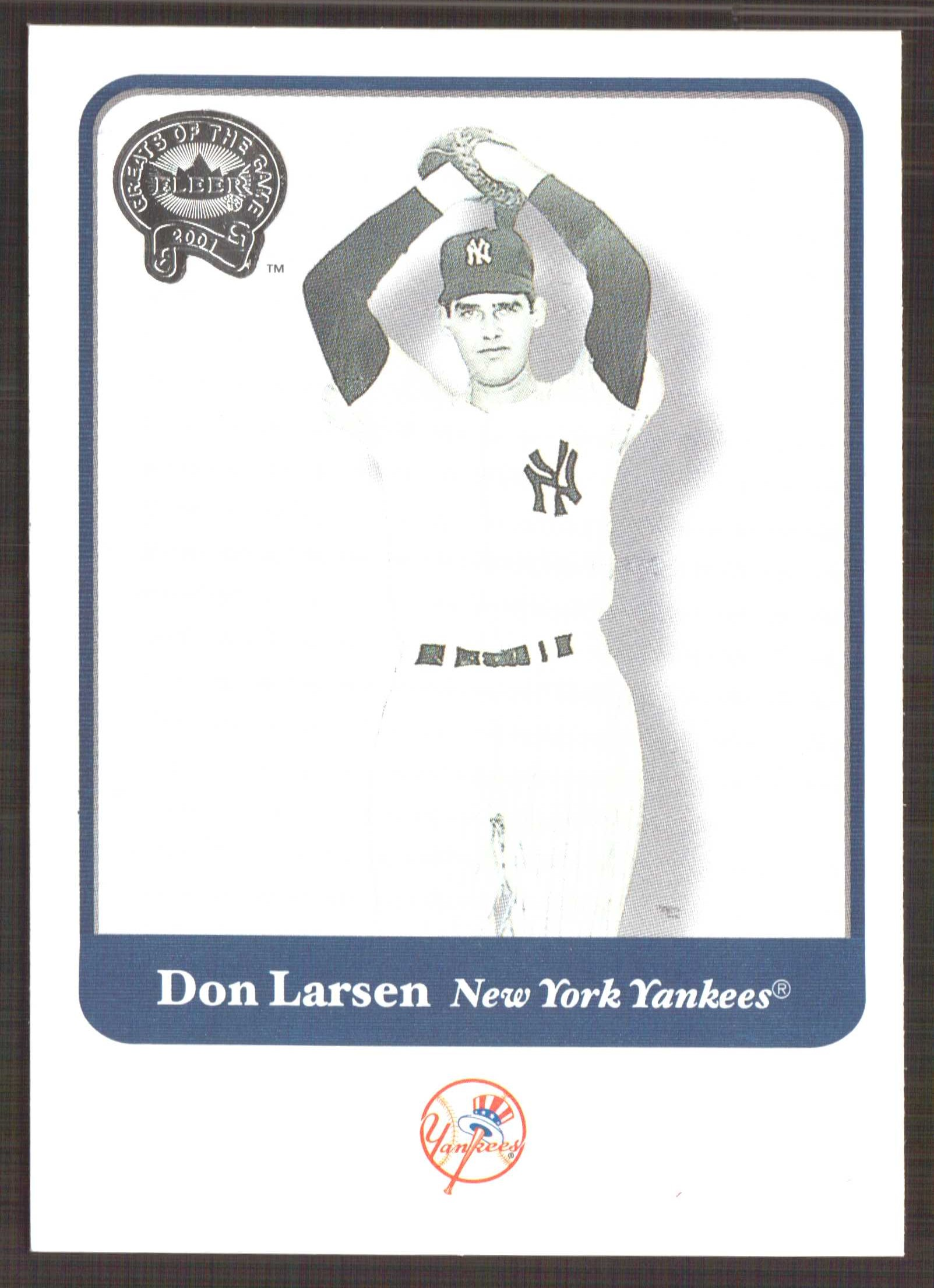 2001 Greats of the Game #5 Don Larsen