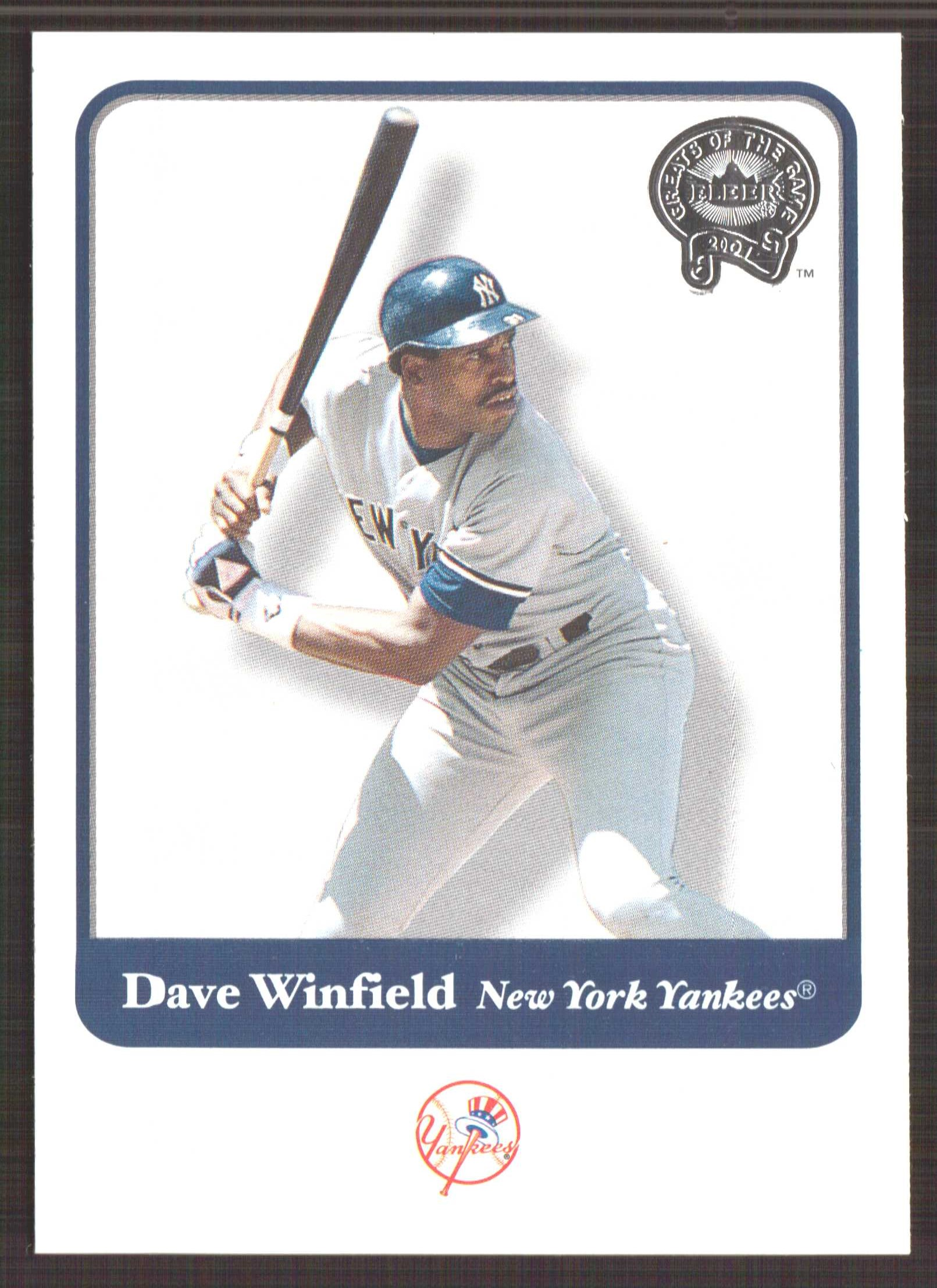 2001 Greats of the Game #12 Dave Winfield