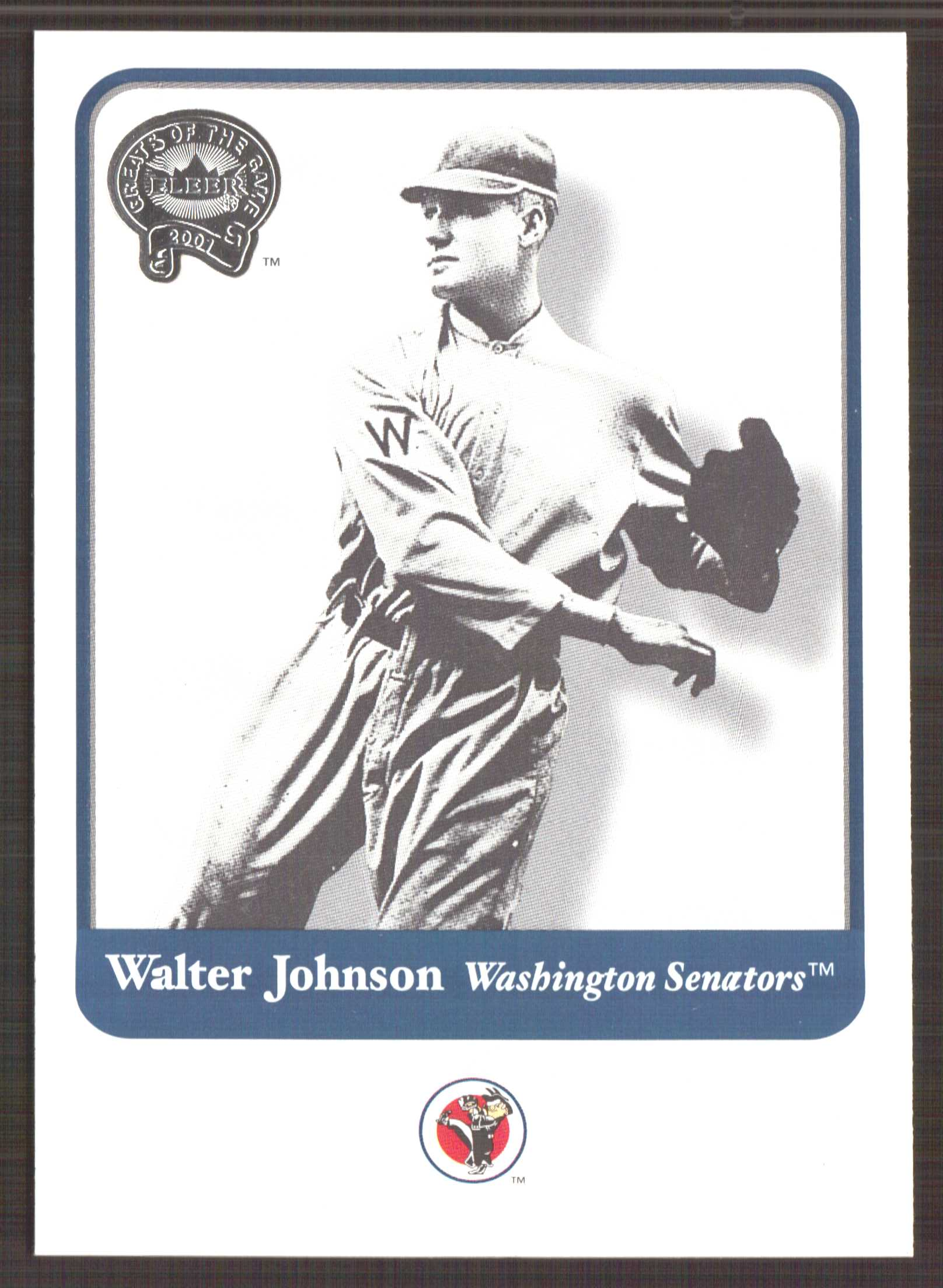 2001 Greats of the Game #15 Walter Johnson