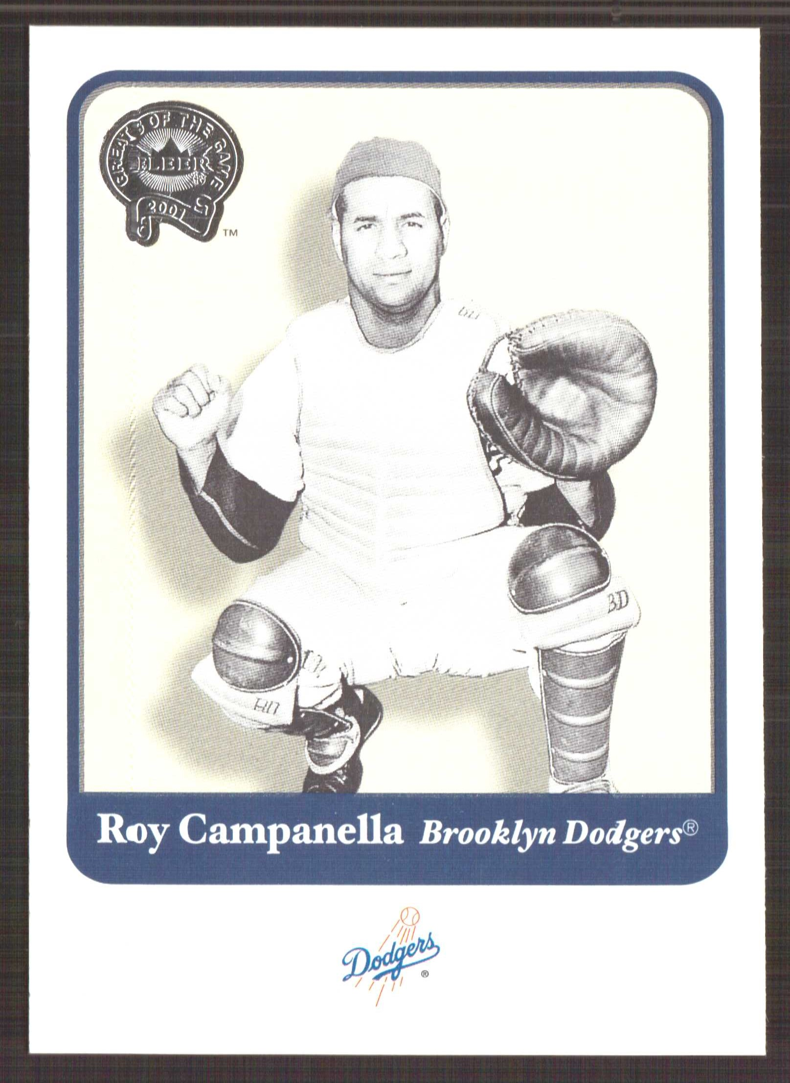 2001 Greats of the Game #16 Roy Campanella front image