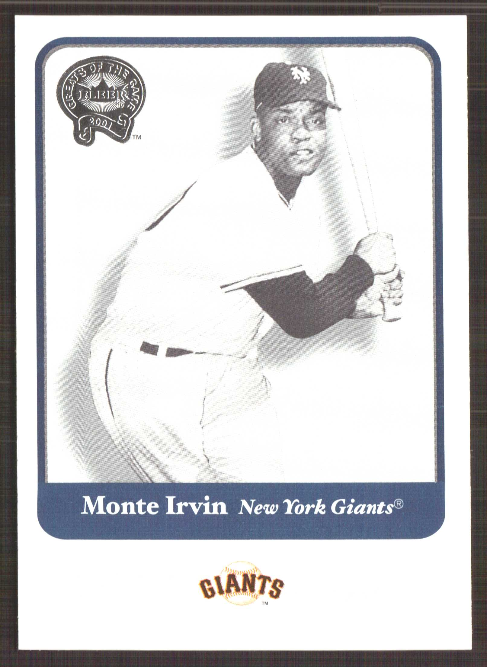2001 Greats of the Game #17 Monte Irvin