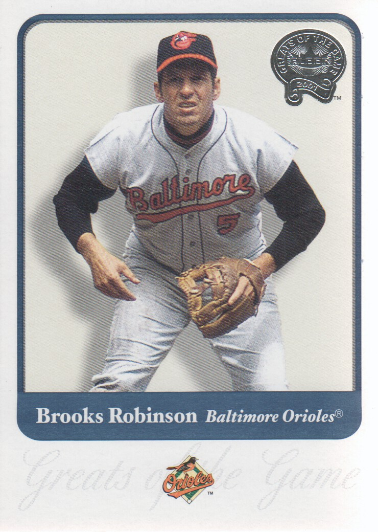 2001 Greats of the Game #22 Brooks Robinson front image
