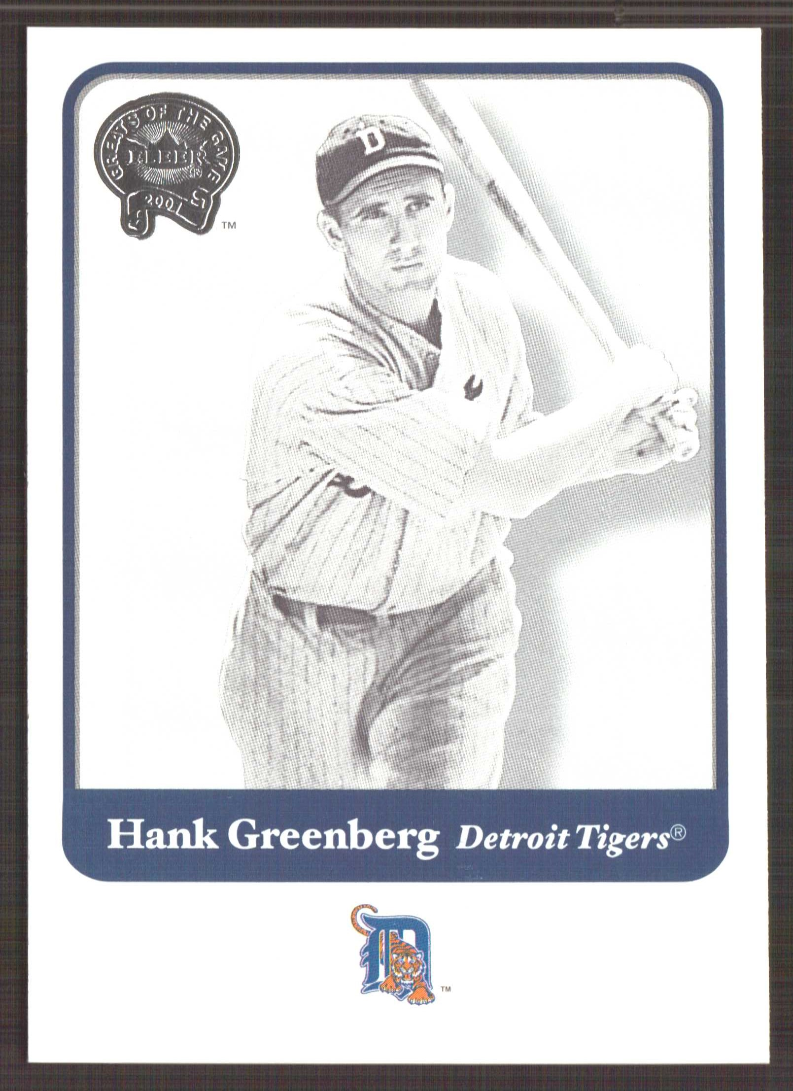 2001 Greats of the Game #23 Hank Greenberg