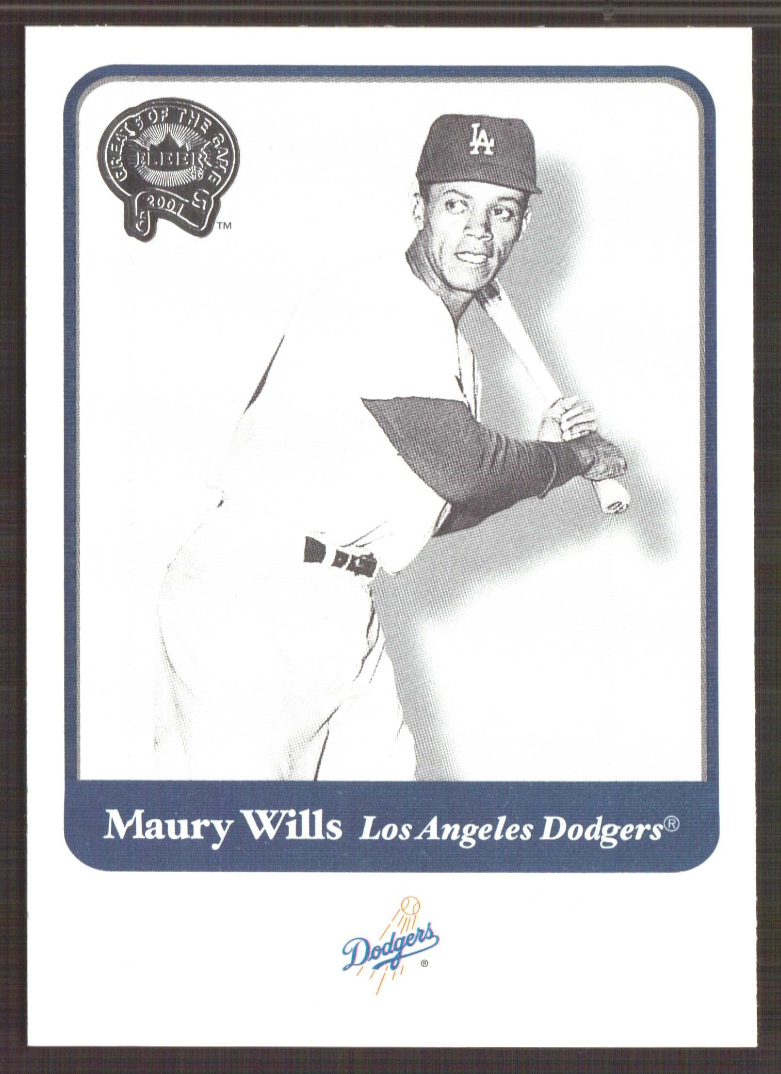 2001 Greats of the Game #24 Maury Wills