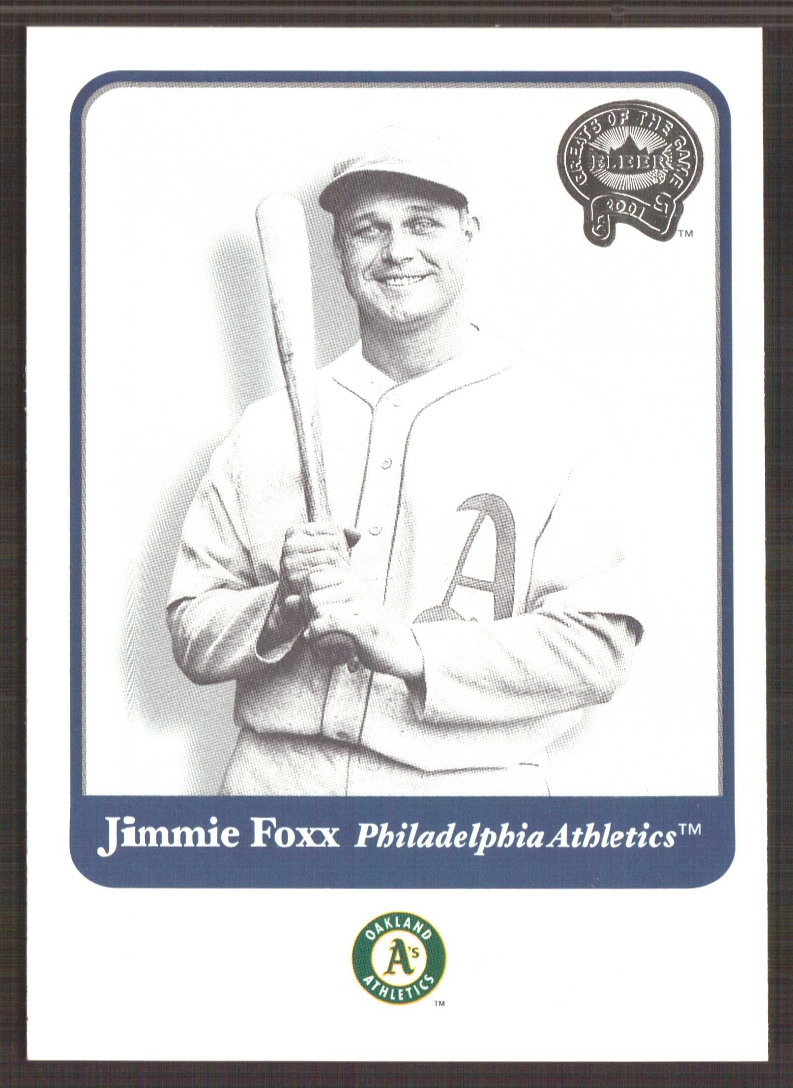 2001 Greats of the Game #27 Jimmie Foxx