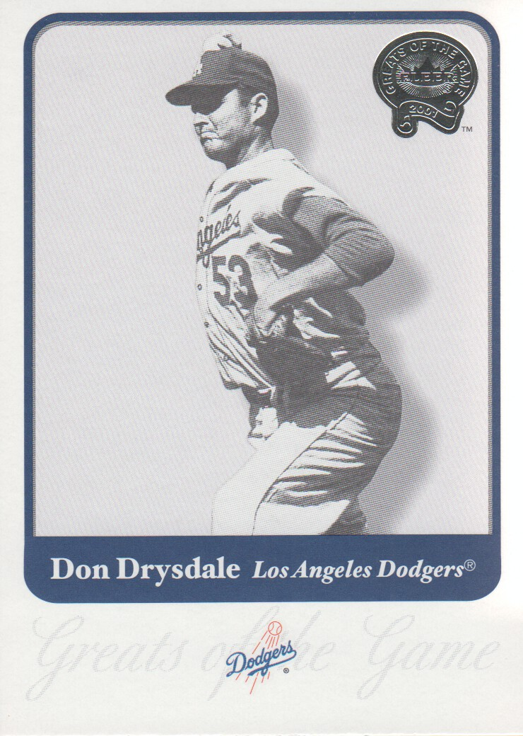 2001 Greats of the Game #30 Don Drysdale front image