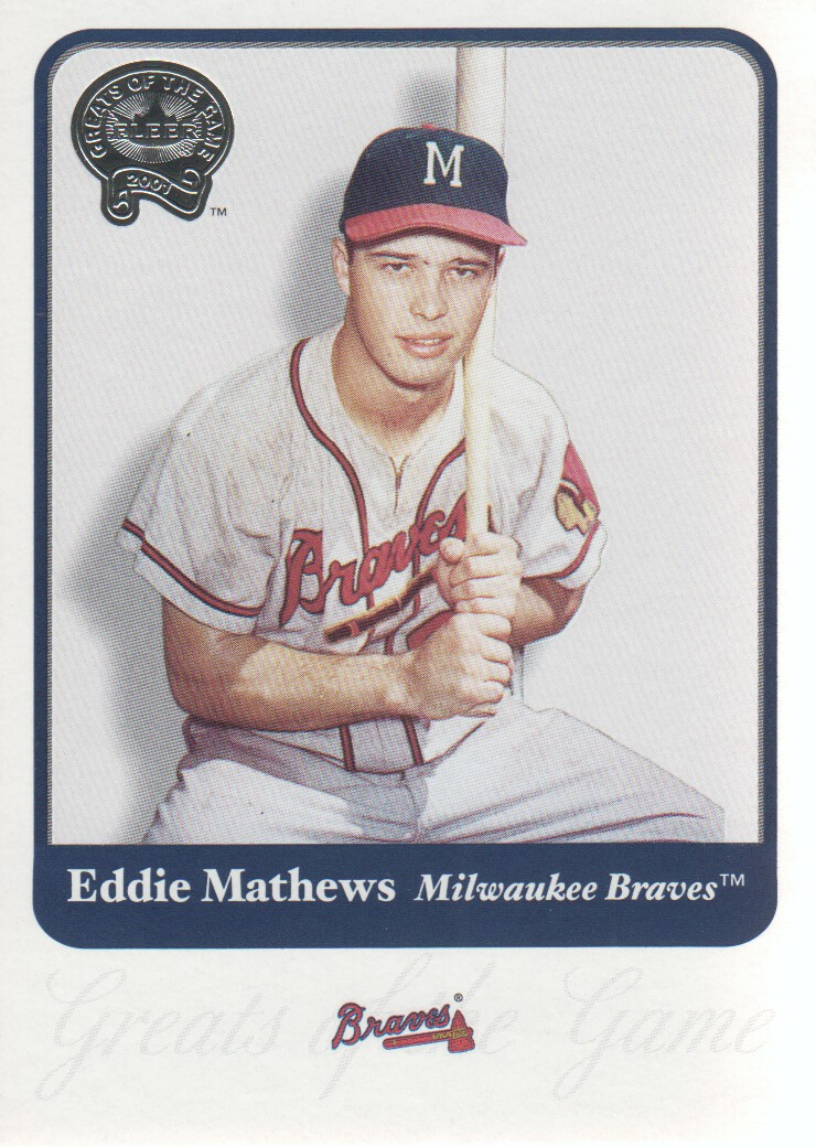 2001 Greats of the Game #36 Eddie Mathews