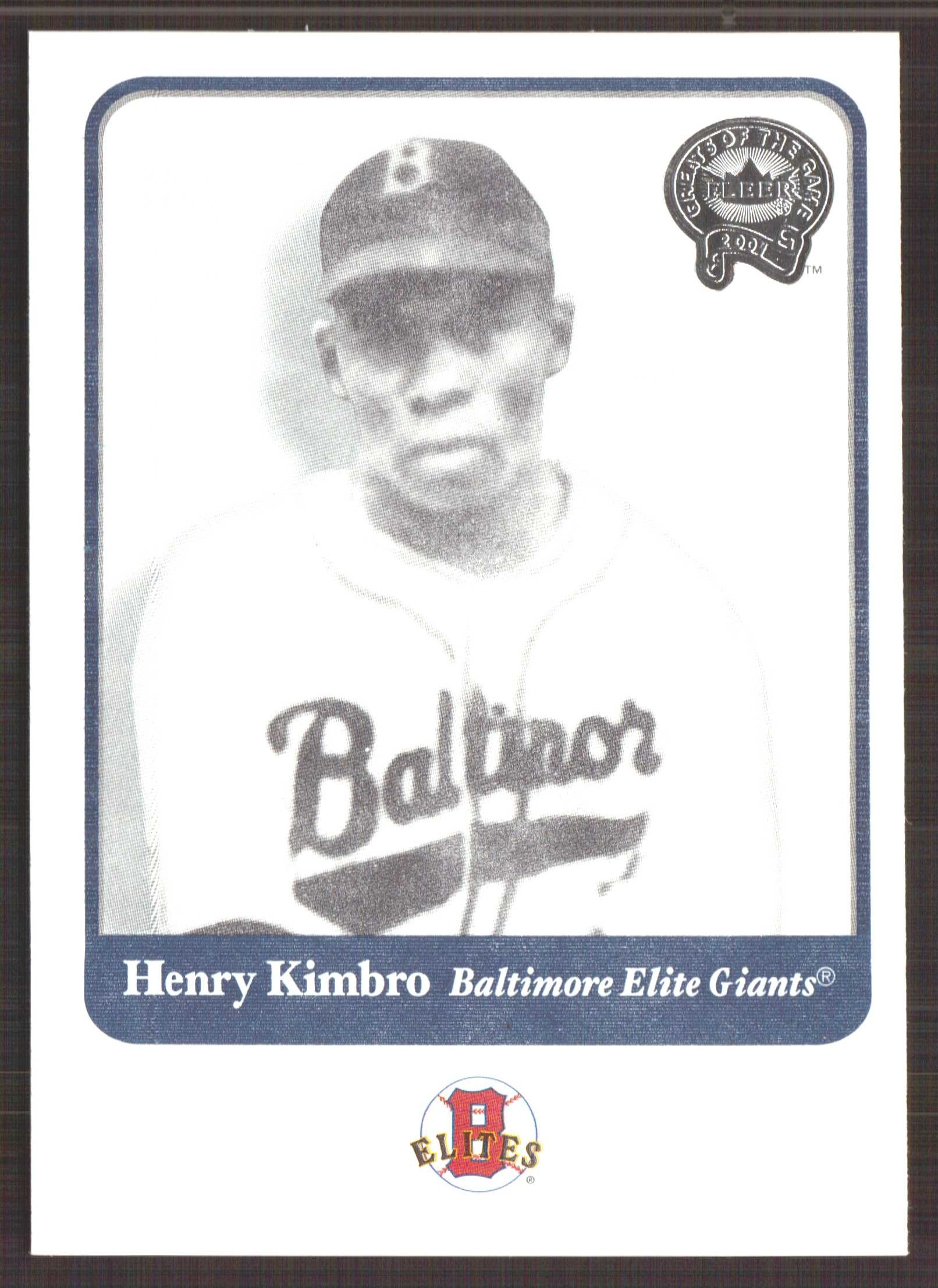 2001 Greats of the Game #39 Henry Kimbro