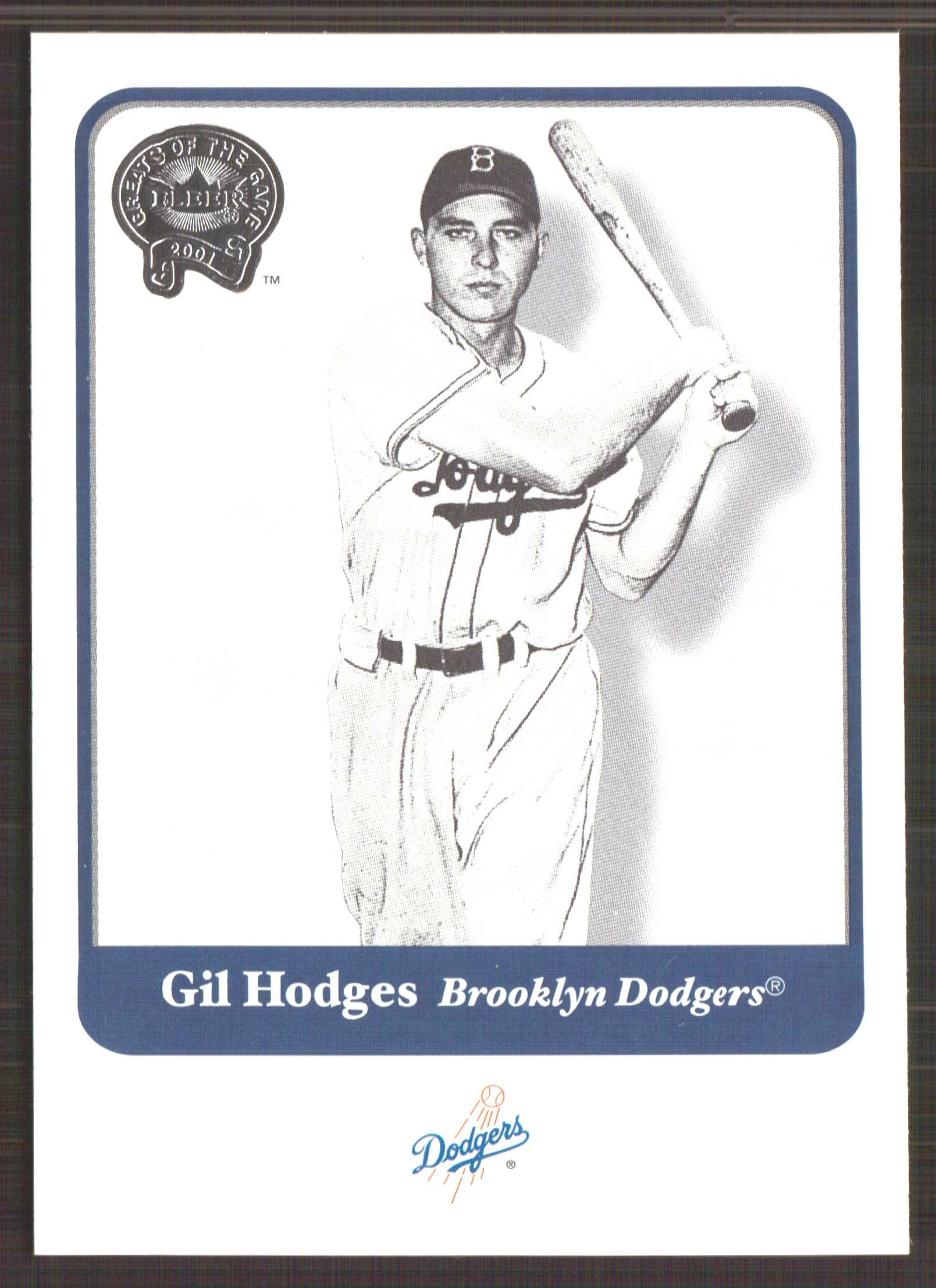 2001 Greats of the Game #50 Gil Hodges