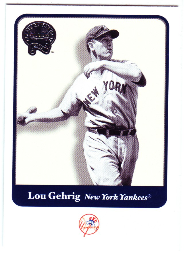 2001 Greats of the Game #54 Lou Gehrig