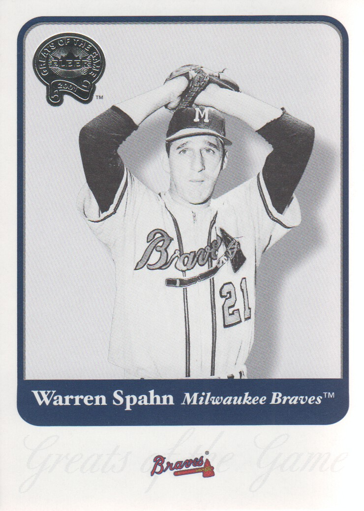 2001 Greats of the Game #62 Warren Spahn front image