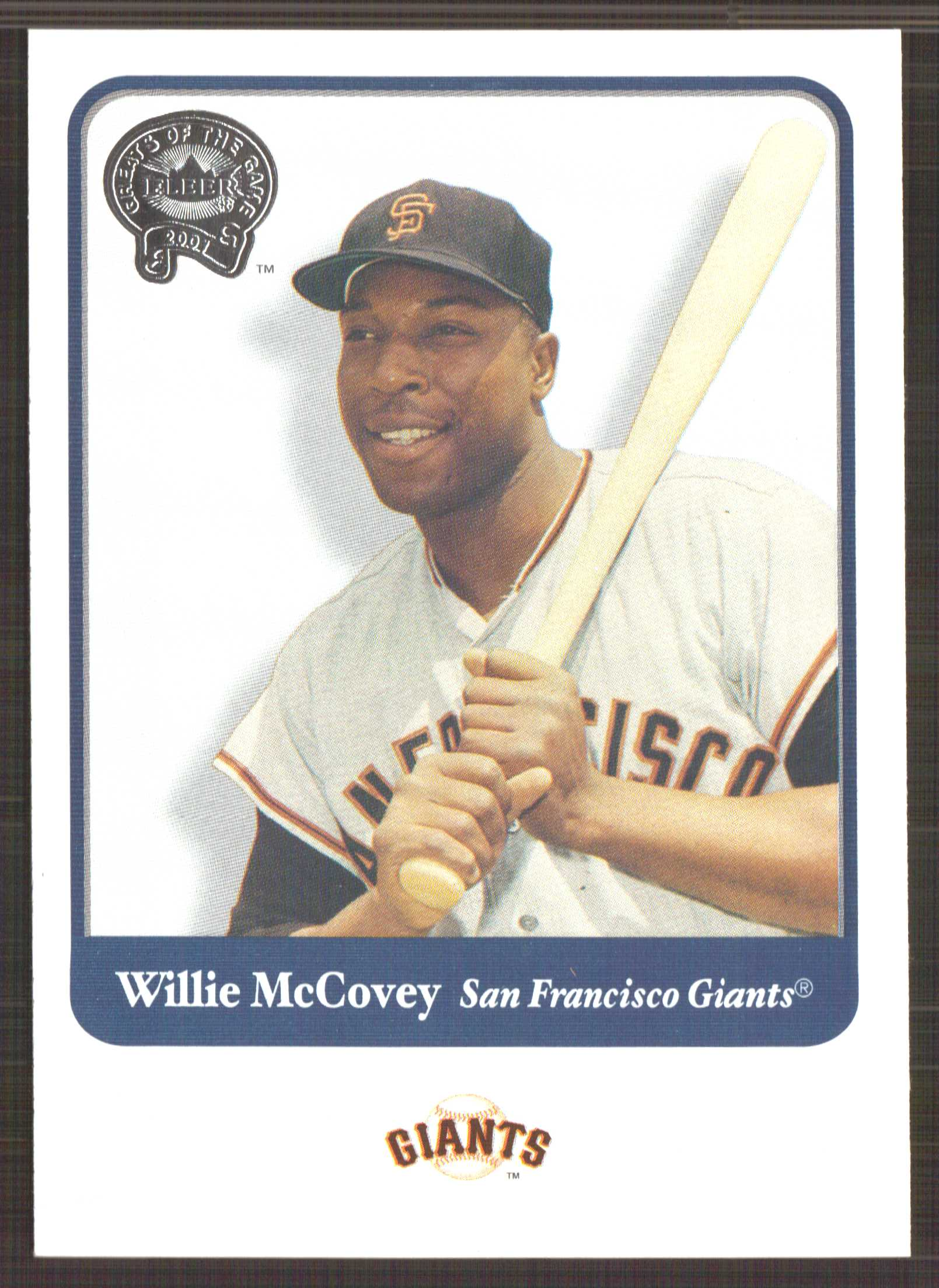 2001 Greats of the Game #63 Willie McCovey