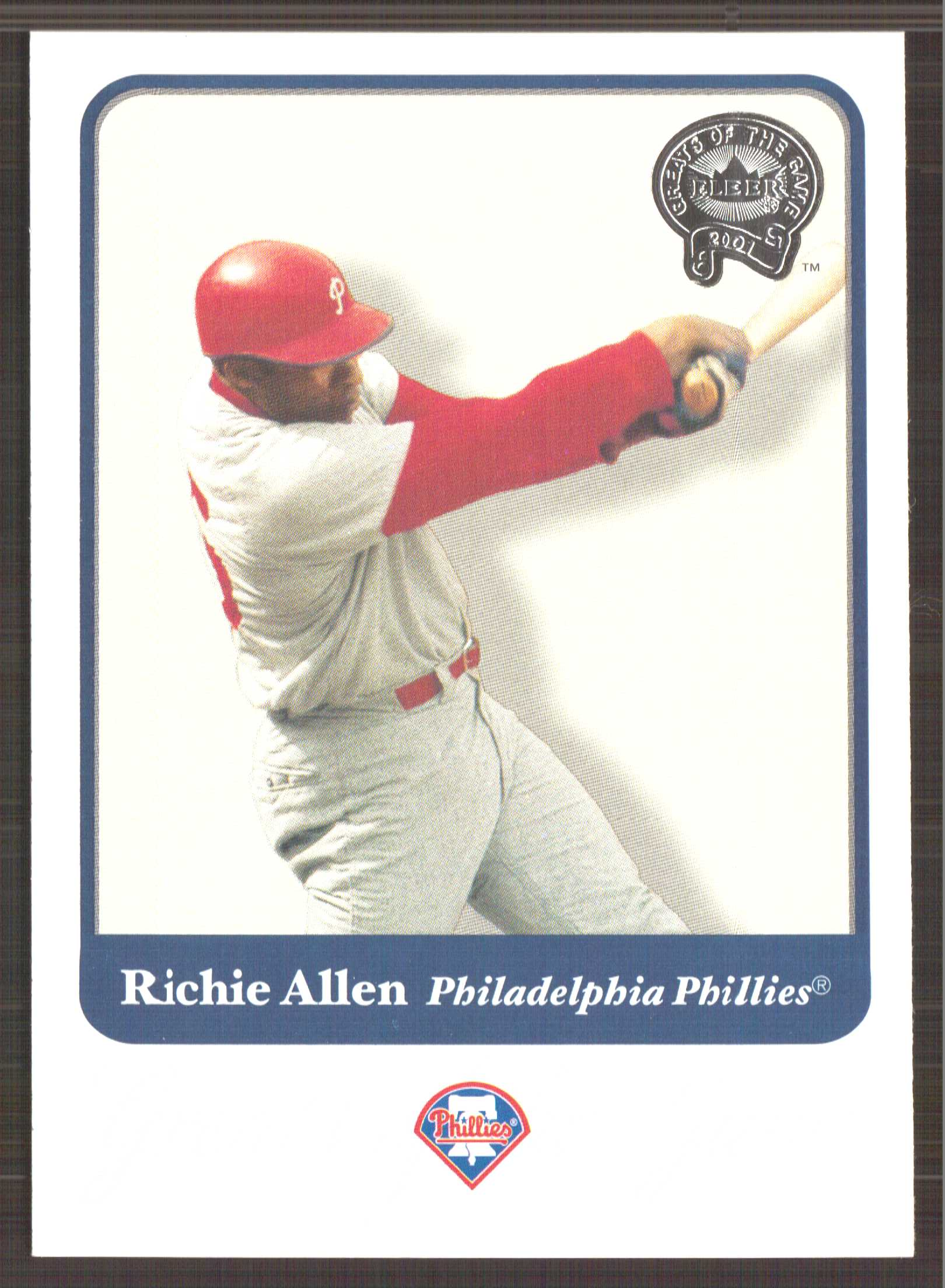 2001 Greats of the Game #66 Richie Allen