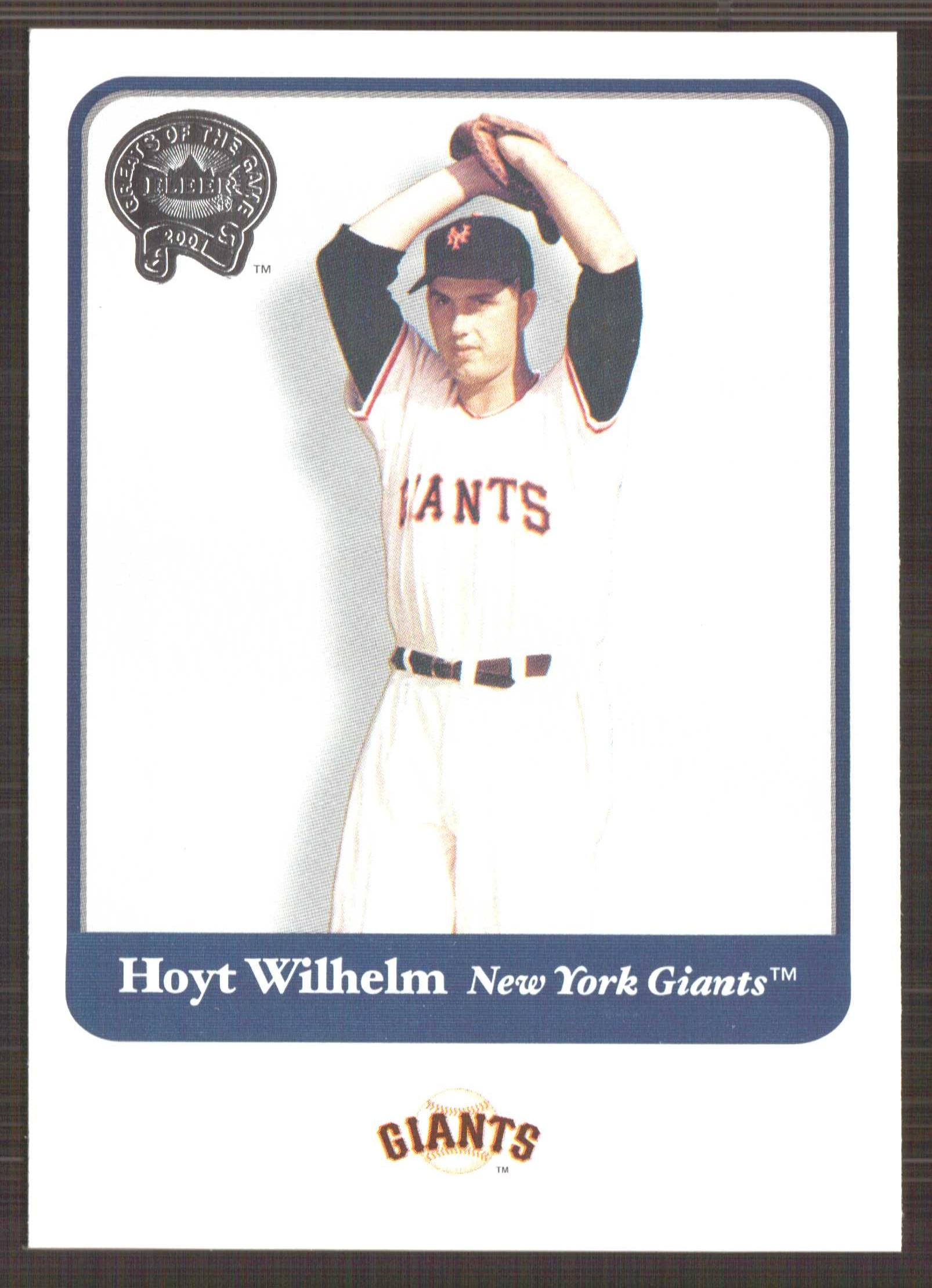 2001 Greats of the Game #69 Hoyt Wilhelm