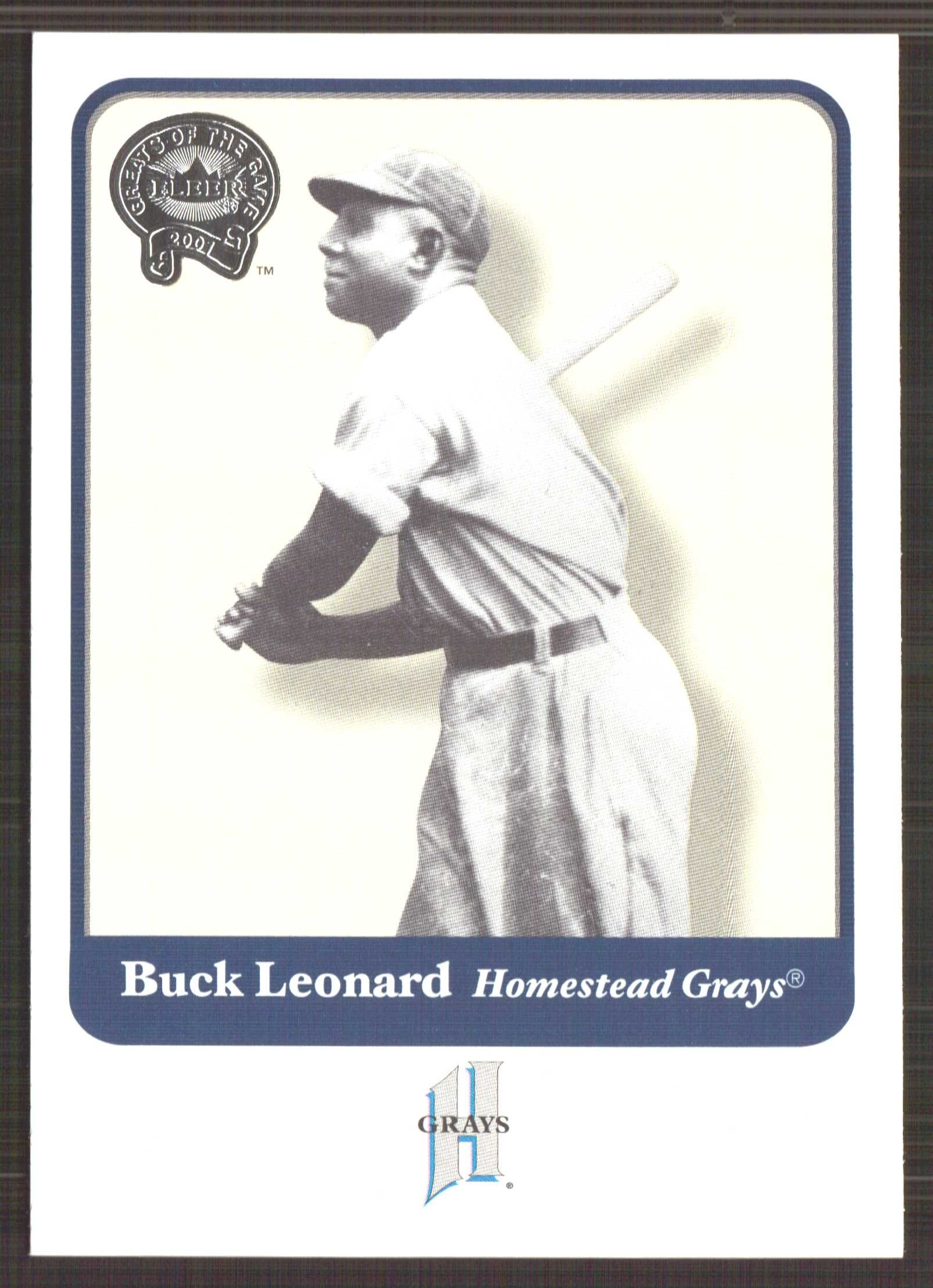 2001 Greats of the Game #71 Buck Leonard